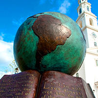the Great Commission Globe Sculpture