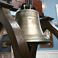 Liberty Bell Replica located in the John G. Mahler Student Center.