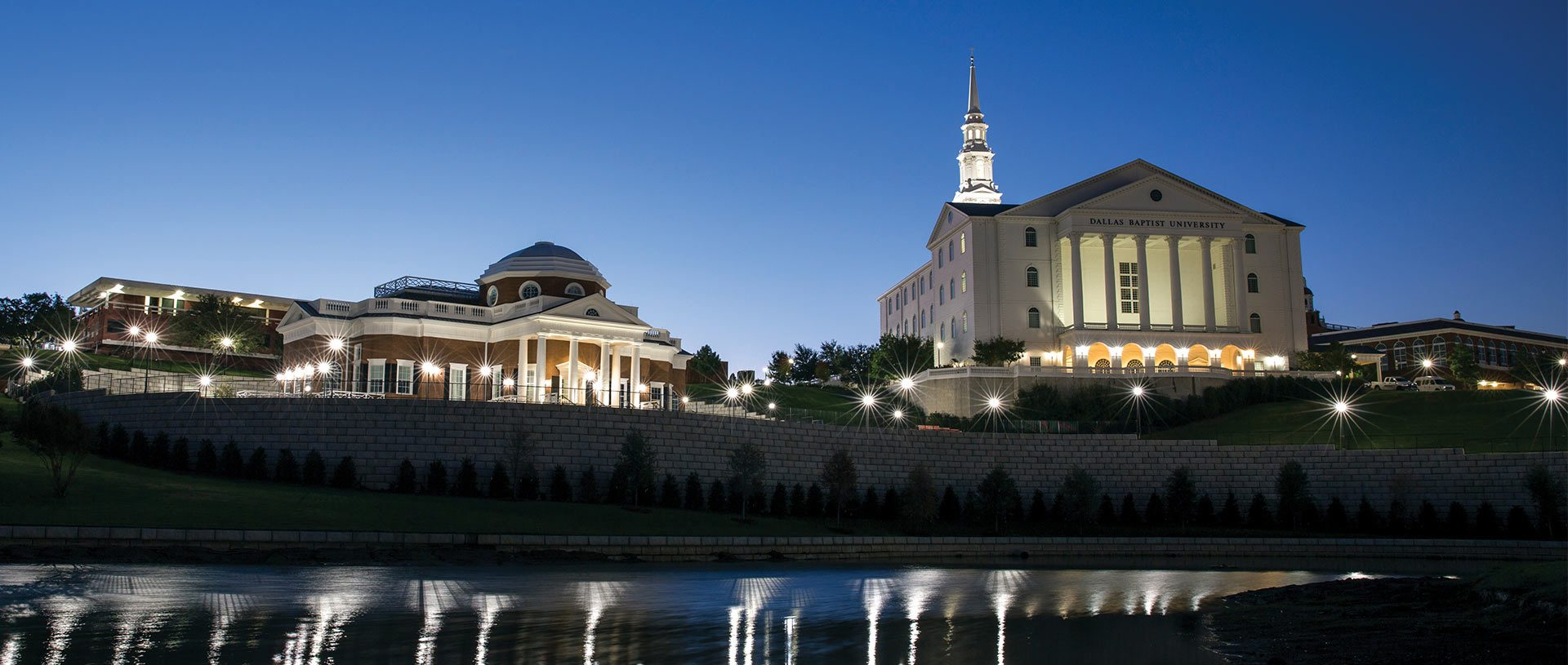 DBU Campus Picture at Night
