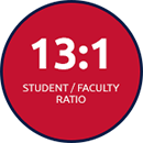 13:1 Student/Faculty Ratio