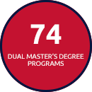74 Dual Master's Degree Programs