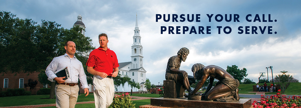 Pursue you call. Prepare to serve.