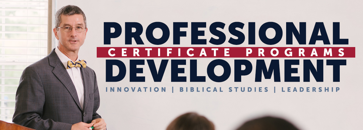 Professional Development - Certificate Programs