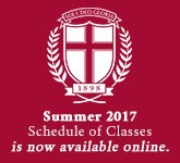 Winter/Spring 2017 Schedule of Classes is now available online.