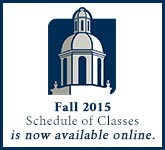 Fall 2015 Schedule of Classes is now available online.