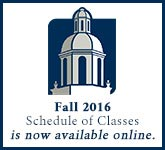 Fall 2016 Schedule of Classes is now available online.