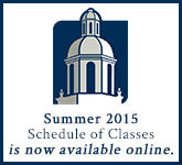 Summer 2015 Schedule of Classes is now available online.