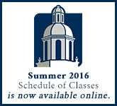 Spring 2016 Schedule of Classes is now available online.