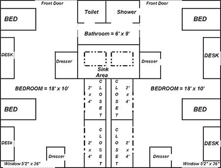 Lange Dorm Floor Plan