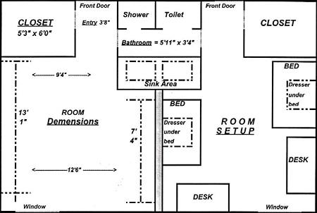 Spence Dorm Floor Plan