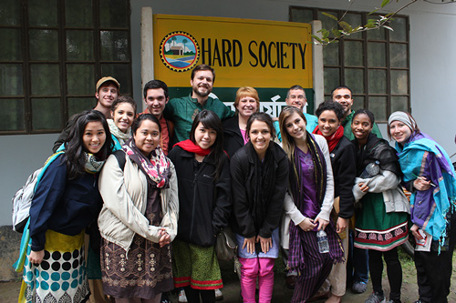 Dr. O'Brien with Students in Bangladesh